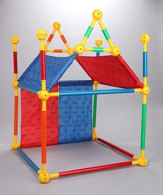 The Toobeez building kit is perfect for creative, open-ended, active play. It can be used to build virtually anything kids can imagine. Make a custom puppet theatre, a hockey net, a tent or even an… Custom Puppets, Activities For Kids, Crafts For Kids, Playhouse Kits, Build A Fort, Blanket Fort, Kids Corner, Little People, Play Houses