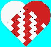 Danish woven heart tweed by Eric Gimmerskov --------> Dando mais golpes no feltro enriquece mais o trabalho final. Danish Christmas, Nordic Christmas, Xmas, Christmas Hearts, Christmas Paper, Origami Paper, Oragami, Diy Paper, Paper Craft