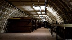 CLAPHAM SOUTH Unfinished underground tunnel used in WW2 2nd tunnel - Bunks