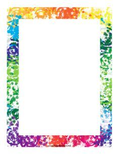 Colorful Border page to print and tons more free printables on this site Free Boarders, Page Borders Free, Page Borders Design, Boarders And Frames, Border Design, Paper Journal, Journal Cards, Printable Border, School Border