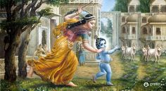 Leela of Lord Krishna with Kumbar of the bondage of 84 Lack Yoonis #dandvatpranam www.dandvat.com