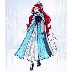 Hayden Williams #DisneyDivas 'Holiday' collection by Hayden Williams: Ariel