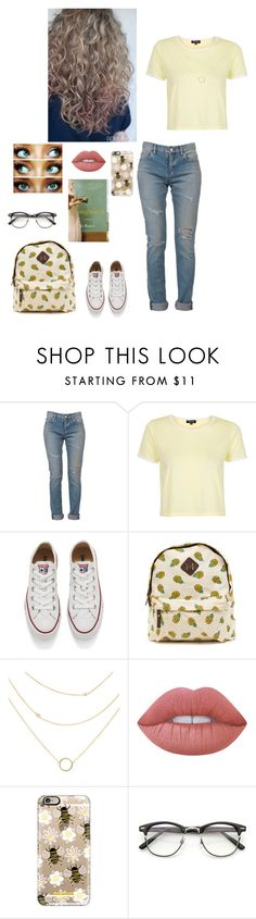 """""""Hopelessly Devoted"""" by faithanjel ❤ liked on Polyvore featuring Yves Saint Laurent, Topshop, Converse, Lime Crime, Younique and Casetify"""