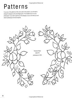 embroidery pattern from a tole painting book