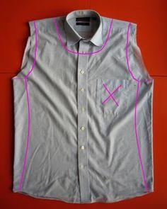 Small Things: Mens shirt Refashion