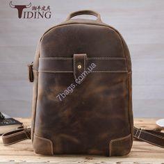 9750947226fb Стильный рюкзак P31613 Tiding Leather, из винтажной плотной кожи Кожаный  рюкзак Tiding 3161 - стильный брутальный дизайн, лошадиная кожа. Акционная  цена ...