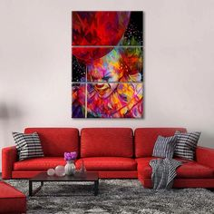 It Multi Panel Canvas Wall Art by ElephantStock is printed using High-Quality materials for an elegant finish. We are the specialists in Modern Décor canvas prints and we offer 30 day Money Back Guarantee Artist Canvas, Artist Painting, Artist Art, Canvas Size, Canvas Wall Art, Canvas Prints, Create Canvas, Indie Art, Types Of Rooms
