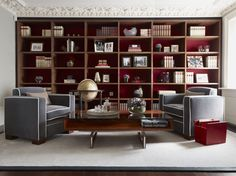 Helix Desk and LINLEY Fitted Cabinetry #Furniture #Desk #LINLEY