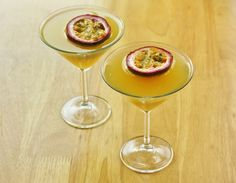 Recipe for making a Pornstar Martini - the sexiest passion fruit twist on a classic cocktail.