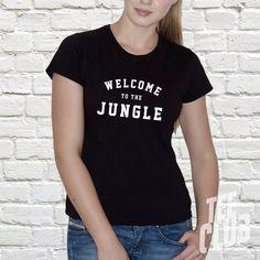 Welcome to the jungle  ladies Tshirt  rock shirt  guns by TeeClub