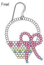 Beaded Easter Basket Earrings Final free pattern