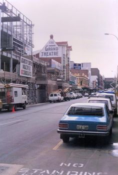 Murray Street during the construction of Forrest Chase, late 1980s. The Grand Theatre was demolished in 1990 and replaced by a Woolworths.