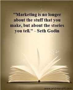 """""""Marketing is no longer about the stuff that you make, but about the stories you tell."""" --- Your social media profiles tell the story of your business. You can use them to market a product or service, but you can also establish your brand and tell people what you're about. --- For social media training, start-up packages, strategy, and/or management, contact HugSpeak today! www.HugSpeak.com"""