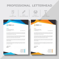 More than 3 millions free vectors, PSD, photos and free icons. Exclusive freebies and all graphic resources that you need for your projects Company Letterhead, Letterhead Design, Letterhead Template, Brochure Design, Brochure Template, Card Templates, Make Business Cards, Modern Business Cards, Business Card Design