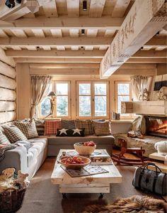 Inspiring Cabin Style Decoration Ideas 2017 78