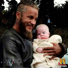 Ragnar and baby Sigurd Snake in the Eye.