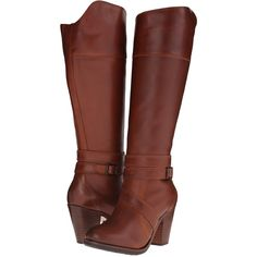 Ariat High Society (Maplewood) Women's Boots ($225) ❤ liked on Polyvore featuring shoes, boots, brown, knee-high boots, ariat, rounded toe boots, brown knee high boots, knee boots and ariat boots