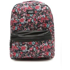 Vans Deana II Floral Backpack ($12) ❤ liked on Polyvore featuring bags, backpacks, accessories, mochilas, bolsos, floral, floral rucksack, floral backpack, knapsack bags and flower print backpack