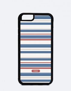 Manhattan-minimal-stripes-blue Blue Stripes, Manhattan, Minimalism, Cases, Mobile Cases, Blue Streaks