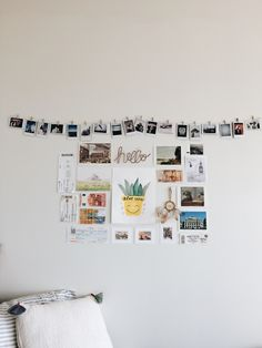 My collage on my dorm wall this year- complete with a watercolor from my best friend, souvenirs from a European missions trip, and of course Polaroids.