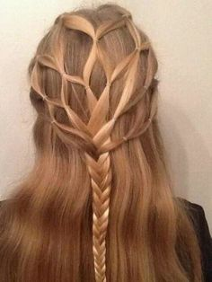 Viking Maiden Braid. This is awesome. The strands starting from the crown almost look like tree branches!