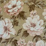 Retro Brown Floral Wallpaper