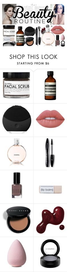 """""""Untitled #22"""" by selena-sok on Polyvore featuring beauty, Giorgio Armani, Fig+Yarrow, Aesop, FOREO, Lime Crime, Chanel, Lancôme, Bobbi Brown Cosmetics and MAC Cosmetics"""