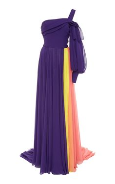 CAROLINA HERRERA COLOR BLOCK SILK GOWN.  carolinaherrera  cloth   Vestido  Bicolor, Vestidos. Vestido BicolorVestidos De ... d942159507