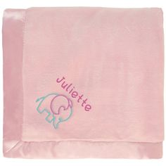 baby girl blanket in pink with a cute embroidered Elephant. The name Melanie is personalized with unique embroidery in a custom design, perfect as a newborn shower gift. Unusual Baby Names, Cute Baby Names, Baby Girl Names, My Baby Girl, Pink Baby Blanket, Baby Girl Blankets, Best Baby Gifts, Security Blanket, Swaddle Blanket