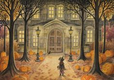 OH MY GOSH I ♥ Love this! Folkart Halloween