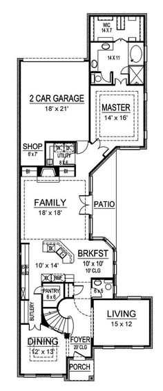 Butler Park | Texas Narrow, House & Home Plans | Archival Designs