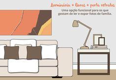 A Ana Medeiros dá dicas fáceis para decorar a mesinha lateral com quadros, abajures, livros e outros objetos, no Blog Mara!