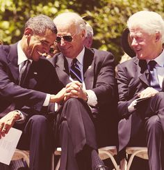 President Obama, Vice President Biden and former President Bill Clinton