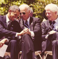 President Obama, Vice President Biden and former President Bill Clinton