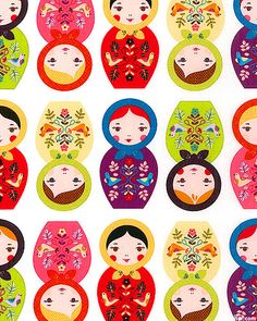 Little Kukla by Suzy Ultman for Robert Kaufman Fabrics