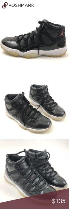 Nike Air Jordan 11 72-10 Black Sneakers Nike Air Jordan 11  Mens Size 10.5  Pre Owned, in Good Shape. Has Some Scuffs- Shown in Photos  Original Box is Not Included  100% Authentic Air Jordan Shoes Sneakers