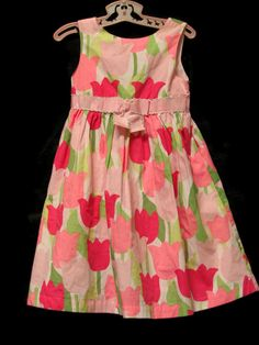 Gymboree TULIP GARDEN Floral Printed Cotton Spring Easter Party Dress Size 5 #Gymboree #PartyDress #Everyday