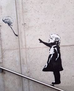 Banksy tribute (girl with balloon) Trump child by 🎈 🧠 Banksy Graffiti, Seen Graffiti, Street Art Banksy, Bansky, Sketchbook Inspiration, Art Sketchbook, Trump Kids, Its A Girl Balloons, Smart Art