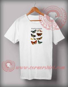 Papillons Butterfly Vintage T shirt Price: 12.00 #trendingshirt Custom Made T Shirts, Shirt Price, Customized Gifts, Custom Design, Butterfly, Mens Tops, Cotton, Vintage, Fashion
