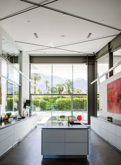 Desert Canopy House kitchen with Gaggenau induction cooktop and Blanco sinks