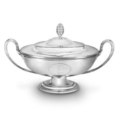 A George III oval soup tureen and cover