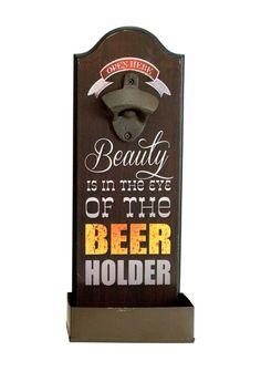Beauty & Beer Wall Mounted Bottle Opener on HauteLook
