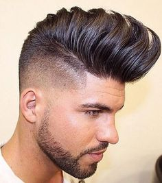 Separated Hawk Pompadour Hairstyle