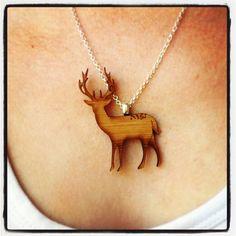 Stag deer necklace