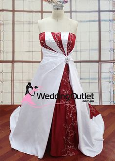 red white wedding dress, red and white wedding dress, red white gowns, red and white gowns