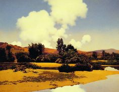 Maxfield Parrish: Little Sugar River at Noon, c1922-c1924