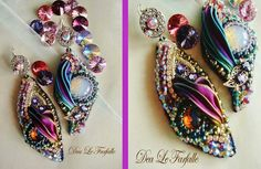 Dea Le Farfalle Creations Shibory Silk Bead Embroidery Moon