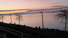 White Rock at dawn, Feb 2012 British Columbia, Dawn, Celestial, Sunset, Rock, Places, Green, Outdoor, Outdoors