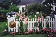 Love the picket fence lined with flowers!