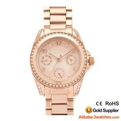 3W-DW212, All Rose Gold Diamond Women Watch, click picture to create your own brand watch.